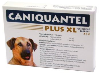 CANIQUANTEL PLUS XL ochucené tablety