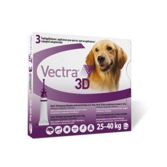 VECTRA 3D sol. ad us. vet. Spot-on pro psy 25-40 kg