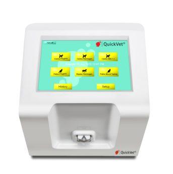 Анализатор определения свертываемости и групп крови животных QuickVet