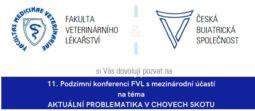 Pozvánka na 11. podzimní konferenci FVL s mezinárodní účastí na téma AKTUÁLNÍ PROBLEMATIKA V CHOVECH SKOTU