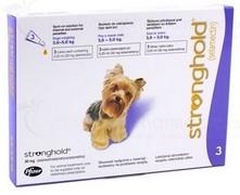 STRONGHOLD 30 mg spot-on roztok pro psy 2,6 - 5kg – modrá (york)