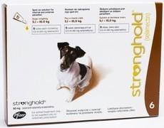 STRONGHOLD 60 mg spot-on roztok pro psy 5,1 - 10kg – hnědá (jack russel)