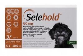 Selehold 60 mg, roztok pro nakapání na kůži - spot-on pro psy 5,1 - 10,0 kg