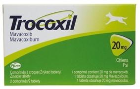 TROCOXIL 20 mg, žvýkací tablety pro psy