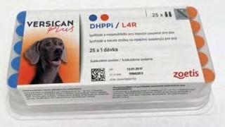 Versican Plus DHPPi-L4R, lyofilizát a rozpouštědlo pro injekční suspenzi