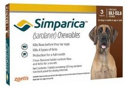 Simparica 120 mg, žvýkací tablety pro psy >40–60 kg
