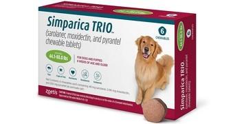 Simparica Trio, žvýkací tablety pro psy >20–40 kg
