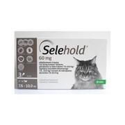 Selehold 60 mg, roztok pro nakapání na kůži - spot-on pro kočky 7,6 – 10,0 kg