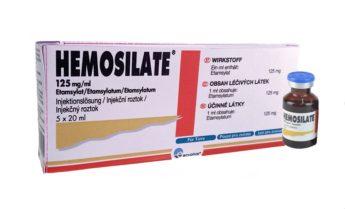 Hemosilate 125 mg/ml, injekční roztok