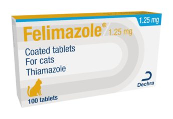 Felimazole 1,25 mg obalené tablety pro kočky