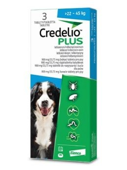 Credelio Plus pro psy 900/33,75mg (>22-45kg)
