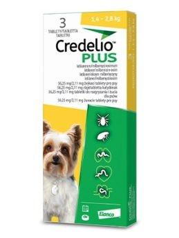 Credelio Plus pro psy 56,25/2,11mg (1,4–2,8kg)