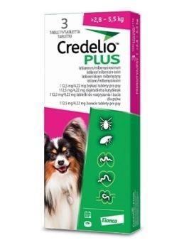 Credelio Plus pro psy 112,5/4,22mg (>2,8-5,5kg)