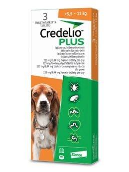 Credelio Plus pro psy 225/8,44mg (>5,5-11kg)