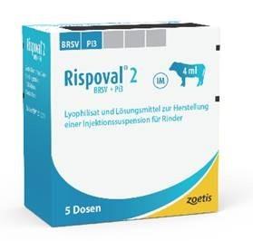Rispoval 2 / BRSV + PI3 lyofilizát a rozpouštědlo pro injekční suspenzi pro skot