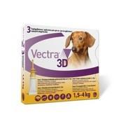 VECTRA 3D roztok pro nakapání na kůži - spot on pro psy 1,5 - 4kg