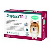 Simparica Trio, žvýkací tablety pro psy >10–20 kg