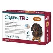 Simparica Trio, žvýkací tablety pro psy >5–10 kg