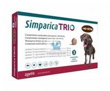 Simparica Trio, žvýkací tablety pro psy >40–60 kg