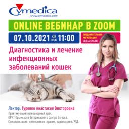 """Запись вебинара """"Диагностика и лечение инфекционных болезней кошек"""""""